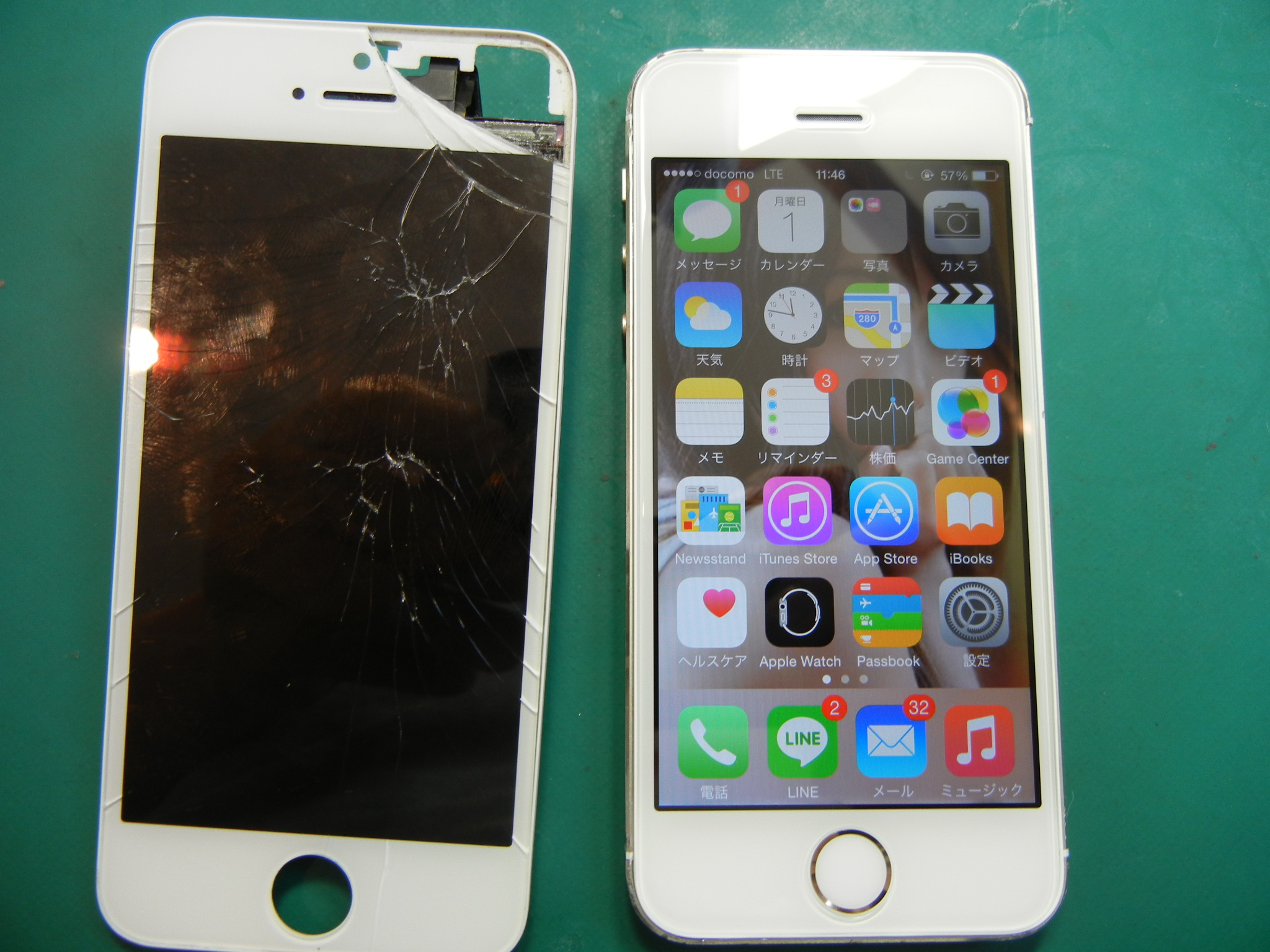 iPhone5Sガラス割修理はiFC埼玉戸田店0627