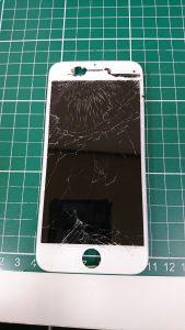 iphone6sガラスわれ修理。